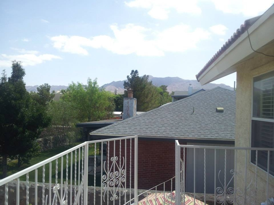 Porch view El Paso home for sale near Fort Bliss.