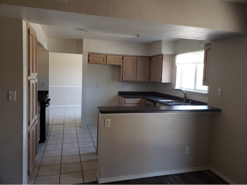 Low maintenance flooring in home for sale or rent in El Paso.