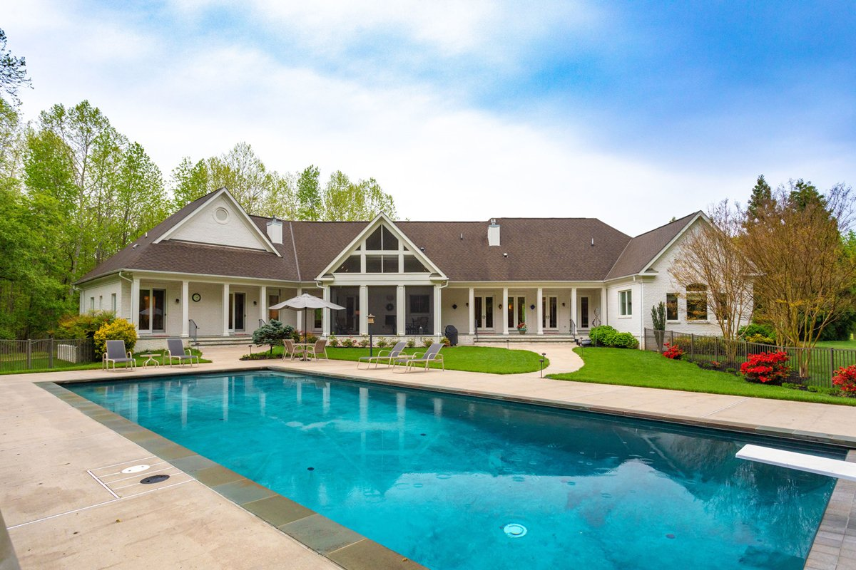 Lorton Virginia home with heated saltwater pool.